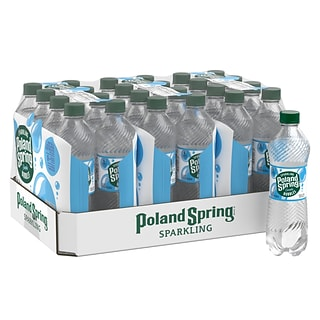 Poland Spring Sparkling Water, Simply Bubbles, 16.9 oz. Bottles, 24/Carton (12349574)