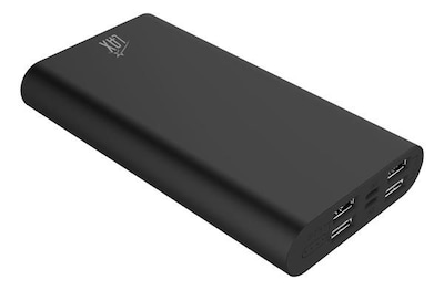 LAX Pro Portable Charger Battery Backup 16800mAh with 4 High Speed Charging 2.1A USB Ports (Black) (LAXPB16800-BLK)