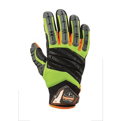 ProFlex® 924LTR Hybrid Dorsal Impact-Reducing Gloves, Lime, Extra Large (17795)