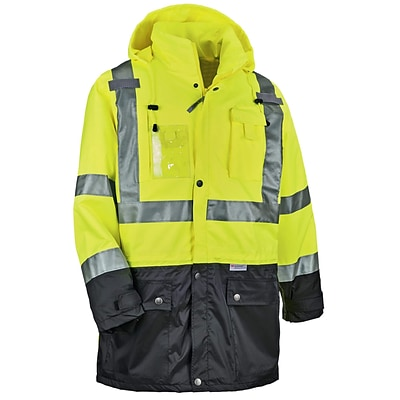 GloWear® 8386 Type R Class 3 Outer Shell Jacket, Lime, Extra Large (25375)
