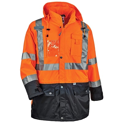 GloWear® 8386 Type R Class 3 Outer Shell Jacket, Orange, Large (25464)