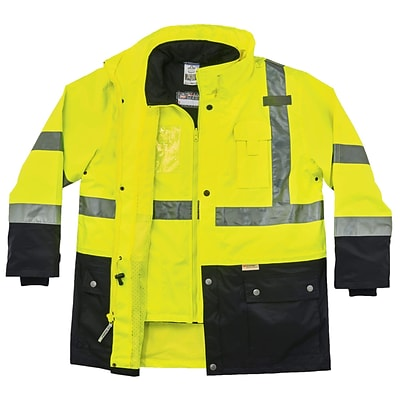 GloWear® 8388 Type R Class 3/2 Thermal Jacket Kit, Lime, Large (25534)