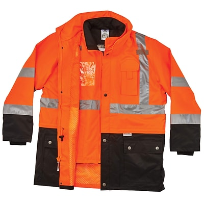 GloWear® 8388 Type R Class 3/2 Thermal Jacket Kit, Orange, Extra Large (25555)