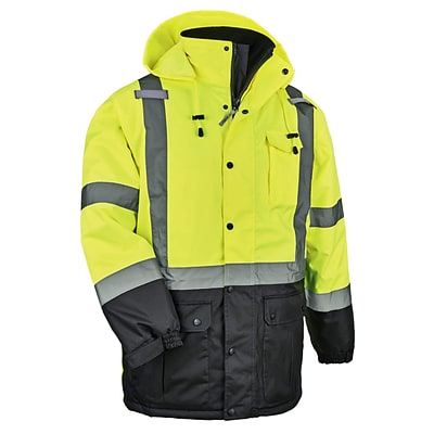 GloWear® 8384 Type R Class 3 Thermal Parka, Lime, Large (25564)