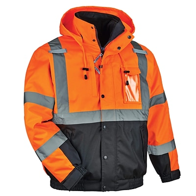 GloWear® 8381 Type R Class 3 Performance 3-in-1 Bomber Jacket, Orange, Extra Large (25585)