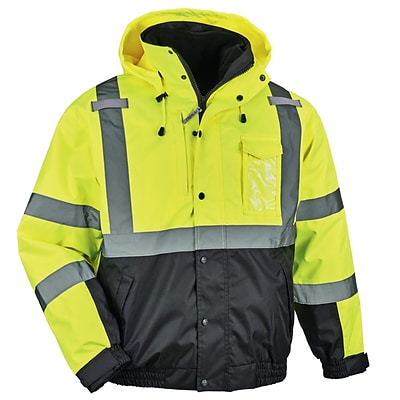 GloWear® 8381 Type R Class 3 Performance 3-in-1 Bomber Jacket, Lime, Extra Large (25595)