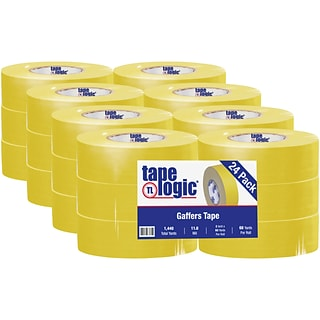 Tape Logic® Gaffers Tape, 11.0 Mil, 2 x 60 yds., Yellow, 24/Case (T98718Y)