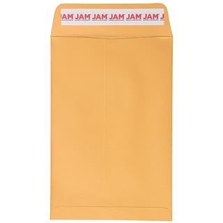 JAM Paper Open End Catalog Envelopes with Peel and Seal Closure, 6 x 9, Brown Kraft Manila, Bulk 5