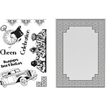 Artdeco Creations Cubic Celebration Ultimate Crafts The Ritz Stamp & Embossing Folder Set (UL157840)