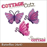 CottageCutz Die-Butterflies 2.1X1.5 & 1.7X1.8