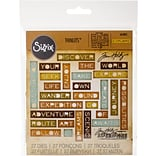 Sizzix Thinlits Dies By Tim Holtz 27/Pkg-Traveler Words, Thin