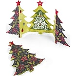 Sizzix Thinlits Dies 6/Pkg-Christmas Tree Fold-A-Long Card