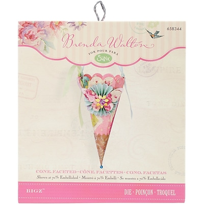 Sizzix Bigz Die 5.5X6-Faceted Cone