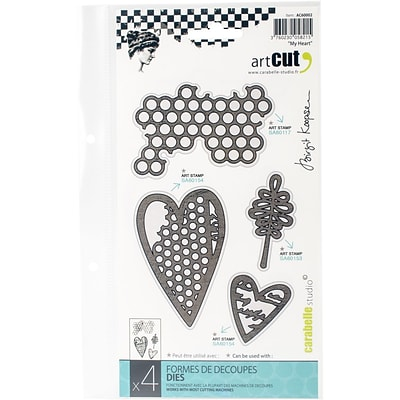 Carabelle Art Cut Die-My Heart, 4/Pkg