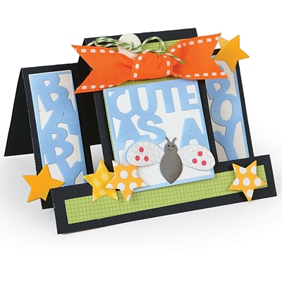 Sizzix Framelits Dies By Stephanie Barnard 15/Pkg-Cute As A Bug Step-Ups Card