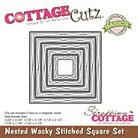 CottageCutz Nested Dies 5/Pkg-Wacky Stitched Square