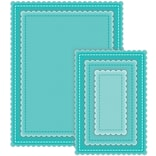 CottageCutz Nested Dies 5/Pkg-Stitched Scallop Rectangle