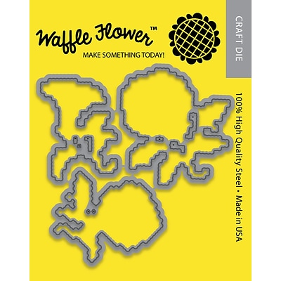 Waffle Flower Die-Stitched Morning Glories