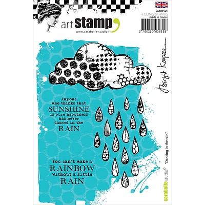 Carabelle Studio Cling Stamp A6-Dancing In The Rain
