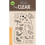 Hero Arts Clear Stamps 4X6-Mason Jar Bugs