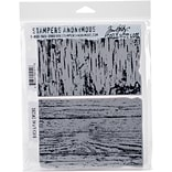 Tim Holtz Cling Stamps 7X8.5-Birch & Pine