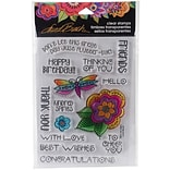 Stampendous Laurel Burch Clear Stamps 7.25X4.625-Floral Greetings