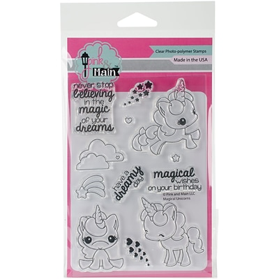 Pink & Main Clear Stamps 4X6-Magical Unicorns