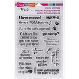 Stampendous Perfectly Clear Stamps 4X6-Cat Sayings