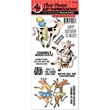 Art Impressions Funny Farm Cling Rubber Stamp-Udderly Fantastic