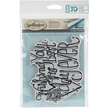 Spellbinders 3D Cling Stamp 5.25X4 By Tammy Tutterow-Wishing You The Best Day Ever