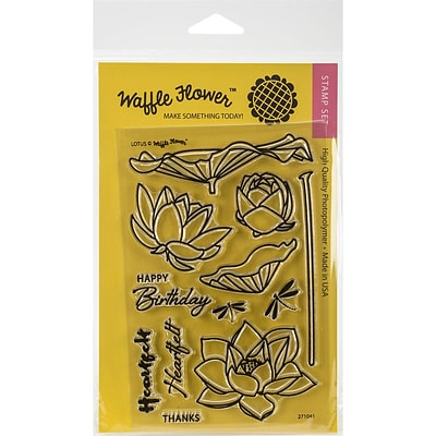 Waffle Flower Crafts Clear Stamps 4X6-Lotus