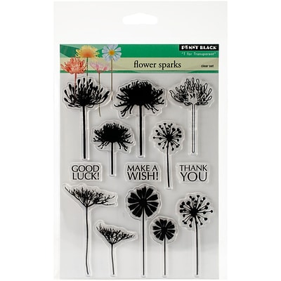 Penny Black Clear Stamps 5X7-Flower Sparks
