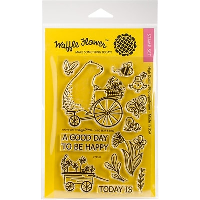 Waffle Flower Crafts Clear Stamps 4X6-Happy Day