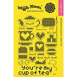 Waffle Flower Crafts Clear Stamps 4X6-Stitched Cup Of Tea