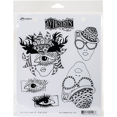 Dyan Reaveleys Dylusions Cling Stamp Collections 8.5X7-The Eyes Have It