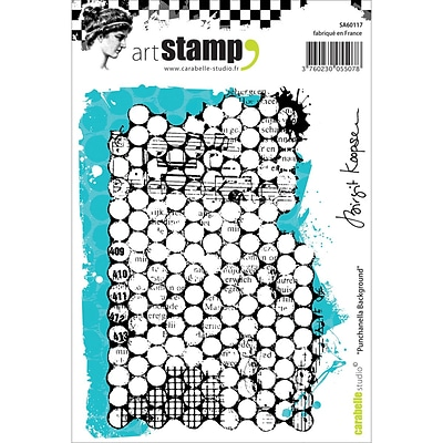 Carabelle Studio Cling Stamp A6-Punchanella Background