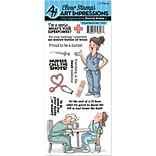 Art Impressions Work & Play Clear Stamp Set-Proud Nurse