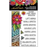 Stampendous Laurel Burch Clear Stamps 7.25x4.625-Flora Wishes