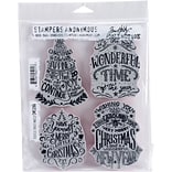 Tim Holtz Cling Stamps 7X8.5-Doodle Greetings #2