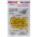 Stampendous Perfectly Clear Stamps 7.25X4.625-Honeycomb Wishes