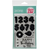 Avery Elle Clear Stamp Set 4X6-Numbered Balloons
