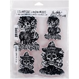 Tim Holtz Cling Stamps 7X8.5-Day Of The Dead #1