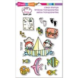 Stampendous Pink Your Life Perfectly Clear Stamps 7.25X4.6-Whisper Friends - Pirates
