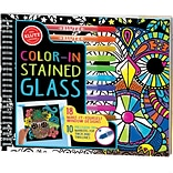 Color-In Stained Glass Book Kit-