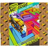 Crayola Art With Edge Coloring Book W/Markers-Geoscapes