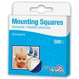 Scrapbook Adhesives Mounting Squares 500/Pkg-Permanent, White, .5X.5
