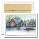 JAM Paper® Blank Holiday Christmas Card Set, Yuletide Glow, 25/pack (526M1510WB)