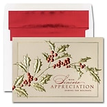 JAM Paper® Blank Holiday Christmas Card Set, Holiday Tidings, 25/pack (526M1470WB)