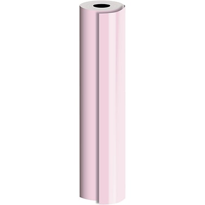 JAM Paper® Industrial Size Bulk Wrapping Paper Rolls, Pastel Pink, 1/2 Ream (834 Sq. Ft.), Sold Individually (165J90224417)