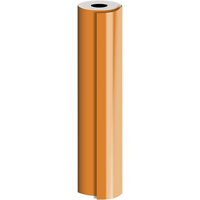 JAM Paper® Industrial Size Bulk Wrapping Paper Rolls, Matte Orange, Full Ream (1666 Sq. Ft.), Sold Individually (165J92724833)